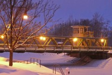 Lift Bridge in Winter